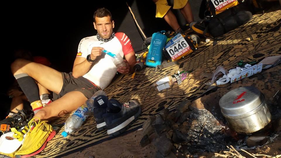 Angel Pavón en el 31 Maraton Des Sables