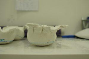 Imagen del molde en escayola para la fabricación de las plantillas personalizadas