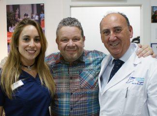 Alberto Chicote con el equipo del Centro de podología deportiva Angel de la Rubia