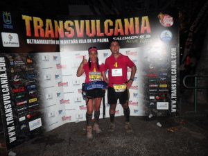 Eloina Perandones y hermano en la Transvulcania. Foto2