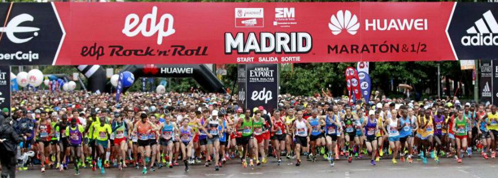 Salida de la Maraton de Madrid 2016