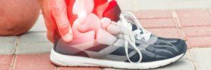 Imagen zapatilla deportiva y huesos del pie